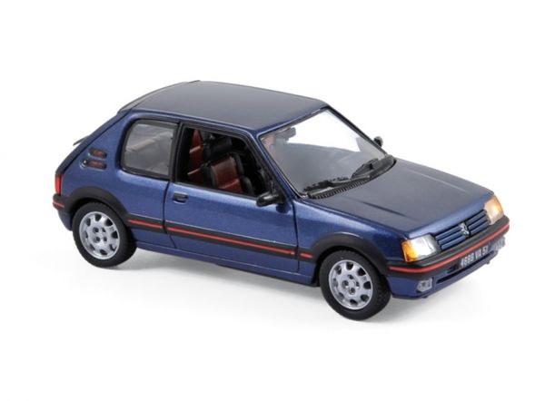 miniature peugeot 205 gti bleu miami 1 43 me norev. Black Bedroom Furniture Sets. Home Design Ideas