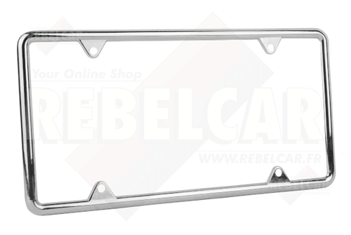 US license plate chromed metal frame 12x6""
