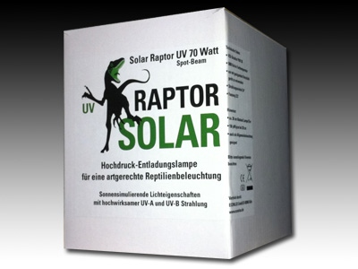 Ampoule UVA/UVB solar raptor 70 watt  55.90€  Flood beam