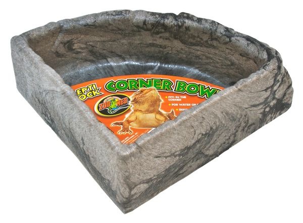 Repti rock  corner bowl large zoomed  34x34x8cm  39.90€