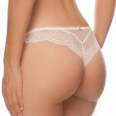 """Tanga """"Raffinement Précieux - Finitions Rose"""" Lise Charmel"""