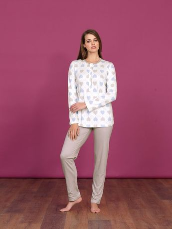Pyjama interlock Coeur Linclalor