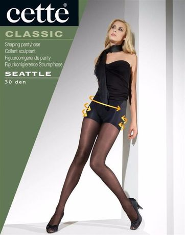 "Collant Sculptant 30 Deniers ""Seattle - Noir"" Cette"