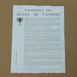 DECLARATION DES DROITS DE L'ENFANT (NATIONS UNIES LE 20 NOVEMBRE 1959)