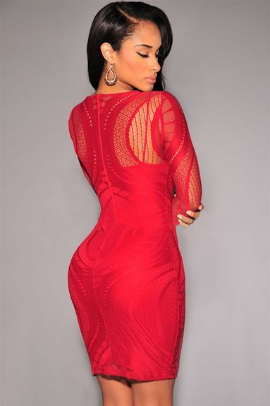 Robe Sexy manches longues