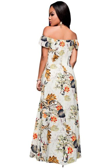 Robe Floral fendue fashion