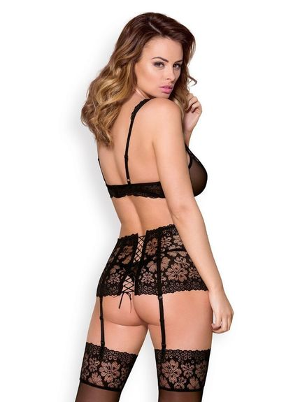 Ensemble sexy porte jarretelle large