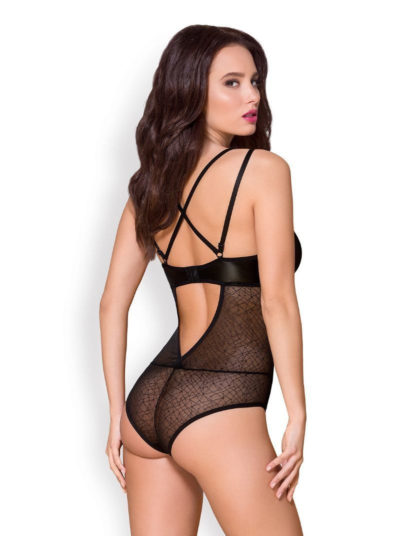 Body Noir Résille Sexy transparent