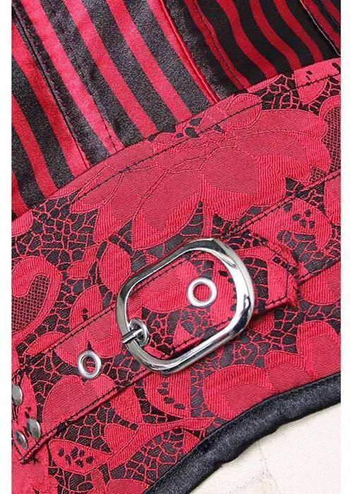 Serre taille brocard Luxe rouge