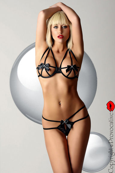 Ensemble string sexy Deep Secrets Set noir