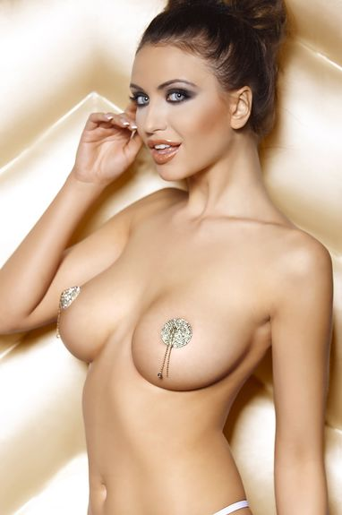 Nippies Sexy argent brillants Pearl nipples
