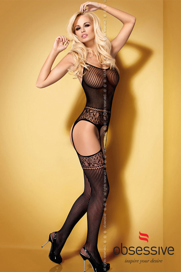 Dessous Sexy | Bodystocking Ouvert jarretelle