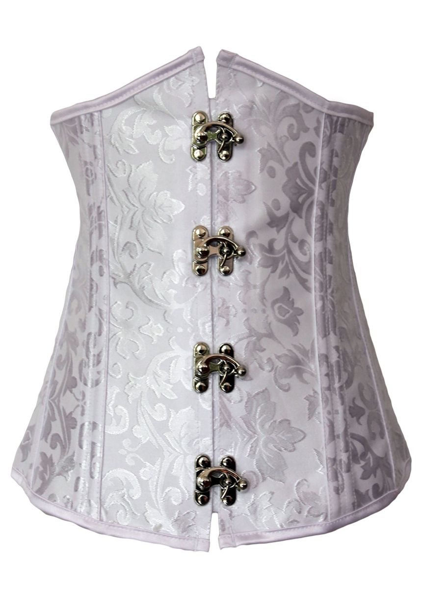 Bustier corset mariage blanc