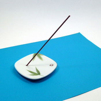 "Incense holder ""bamboo leaf"""
