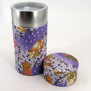 "Japanese teabox ""Washi paper blue"""