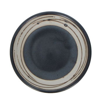 """Black large round soy saucer cup """"ashes"""""""
