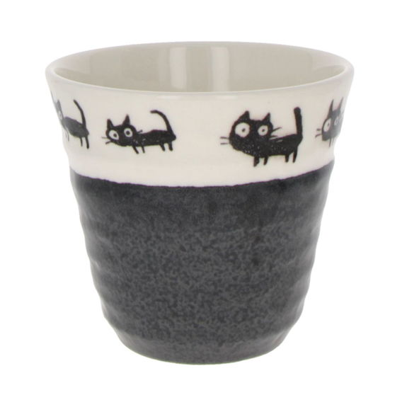 "Tall mug like coffe or tea cup ""Black cats"" - Black"