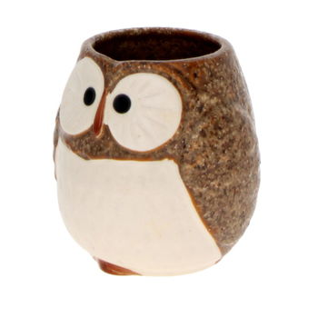 "Tea cup ""Owl brown"""