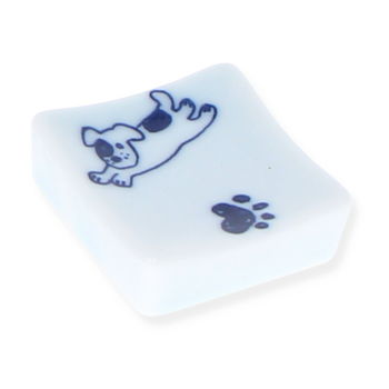 "Square chopsticks rest ""Dog's footprint """