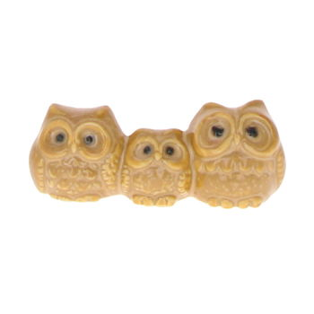 "Chopsticks rest ""Owls family ""- Beige"