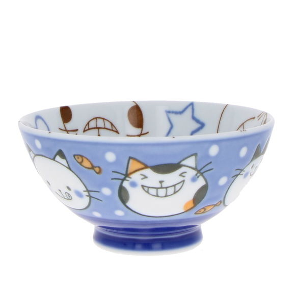 """""""Blue cats"""" Rice bowl for child"""