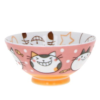 """Pink cats"" Rice bowl for child"