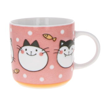 """Pink cats"" Mug with handle for kids"