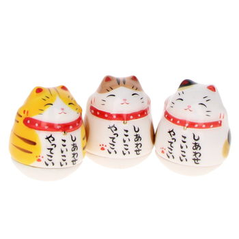 "Maneki Neko ""roly"" (by unit - colors at random)"
