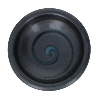 "Black small round soy saucer cup ""Spiral"""