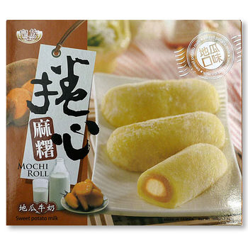 Sweet Potato Milk Mochi Roll