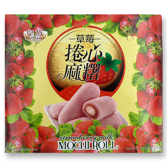 Strawberry Milk Mochi Roll 300g
