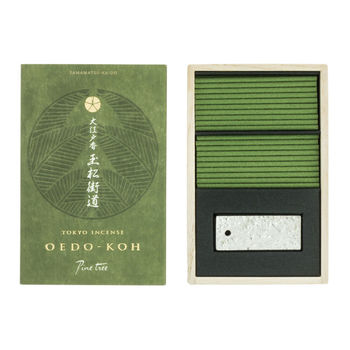 Oedo-Koh Pine tree Incense with incense stand