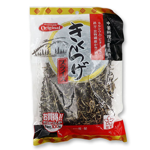 Dried and sliced black fungus 100g
