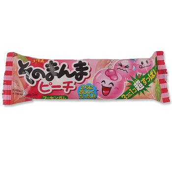 Peach flavoured chewing gum x3