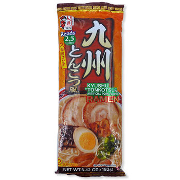 Japanese style Ramen noodles with artificial pork flavor soup 182g