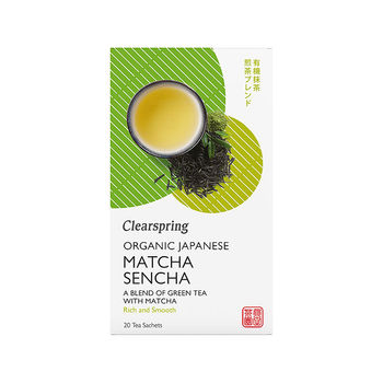 Organic matcha and sencha tea (20 teabags)