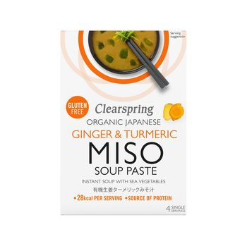 Organic miso soupe paste ginger & turmeric x 4