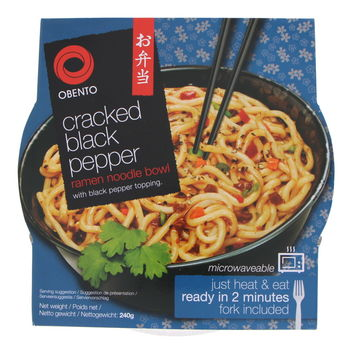 Cracked black pepper ramen noodles bowl 240g