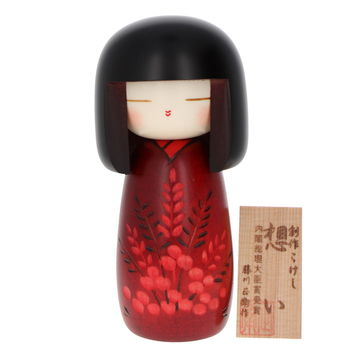 """Feelings"" & flowers Kokeshi 16cm"