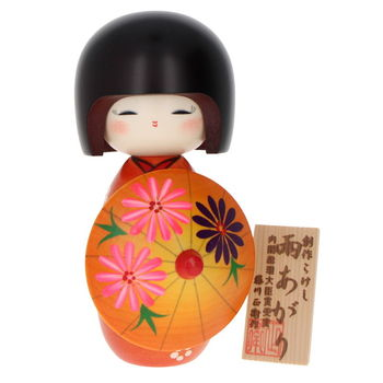 """After the rain"" Kokeshi 16cm"