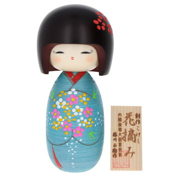"""Flowers picking"" Kokeshi 16cm"