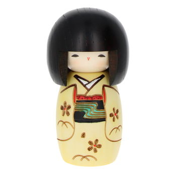 """Little kid"" yellow Kokeshi 13cm"