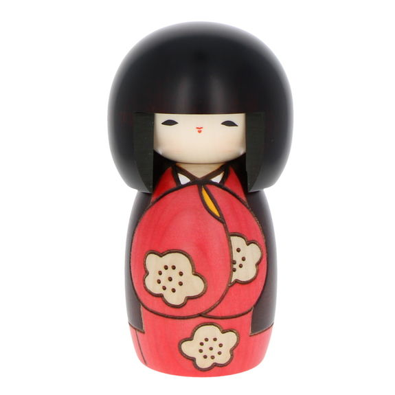 """Have a nice day"" Red Kokeshi 14cm"
