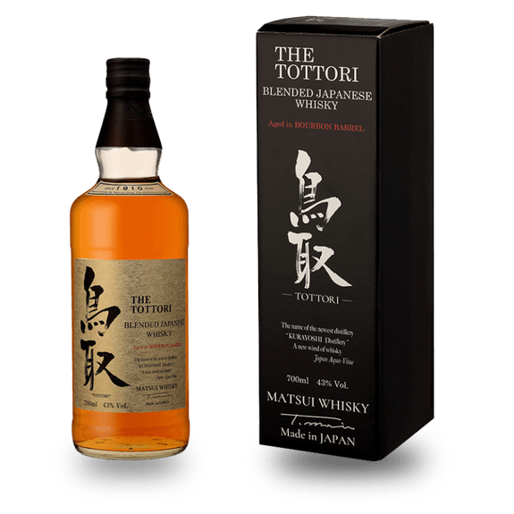 The Tottori blended japanese whisky 100% Bourbon barrel 43° 50cl