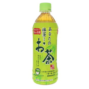 Sencha green tea with matcha in bottle 500ml