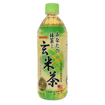 Genmaicha green tea with matcha in bottle 500ml