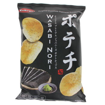 Japanese chips with wasabi and nori flavors 100g