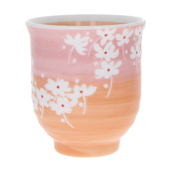 """Japanese tall tea cup """"Flowers of spring"""""""