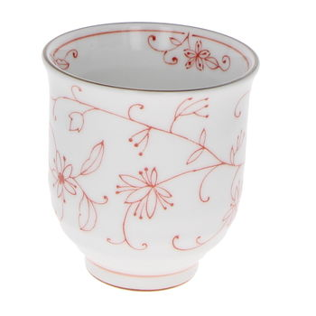"""Japanese tall tea cup """"Red herbs"""""""