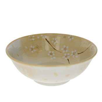 "Bowl for ramen noodles with ""Sakura"" - Yellow"